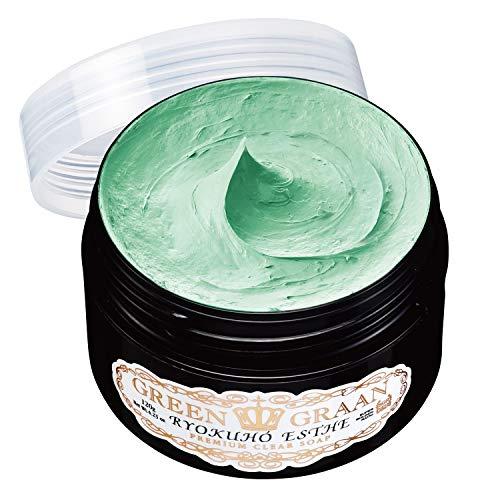 グリングラン 緑宝エステ[ 120g / 約3ヶ月分 ]天然成分豊富 泡洗顔( ハーブの香り )泡立てネット付き