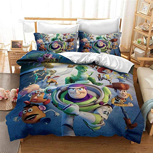 Avvsovs Bedding Set Men Teen Cartoon anime character 3D Premium Microfiber Duvet Cover and Pillowcases, Anti-mite, Smooth and Comfortable(kings - 220 x 240 cm) Zipper closure Duvet cover set boy gir