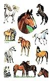 AVERY Zweckform 53483 glitzer Papier-Sticker Pferde 22 Aufkleber (für Mädchen, Mitgebsel, Gastgeschenk, Kindergeburtstag, Schatzsuche, Belohnung, zum Spielen, Sammeln, Basteln,...