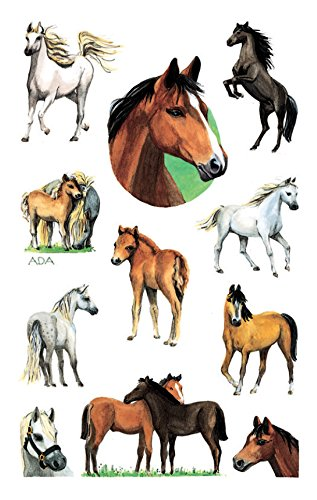 AVERY Zweckform 53483 glitzer Papier-Sticker Pferde 22 Aufkleber (für Mädchen, Mitgebsel, Gastgeschenk, Kindergeburtstag, Schatzsuche, Belohnung, zum Spielen, Sammeln, Basteln, Verschenken)