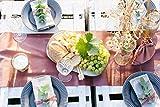 100%Mosel Tischläufer Samt, in Altrosa (28 cm x 5 m),Tischband aus Polyester in Matter Samt-Optik, edle Tischdeko für den Herbst & Winter, Dekoration zu besonderen Anlässen - 5