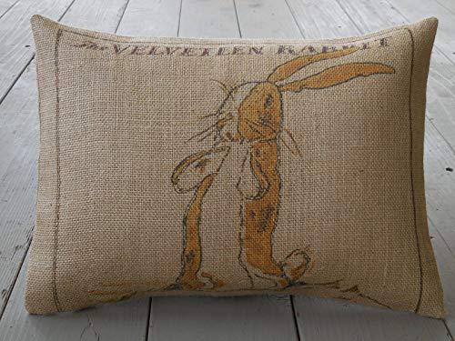 Hannah66Wind - Funda de Almohada con diseño de Conejo y Conejo, Estilo Vintage
