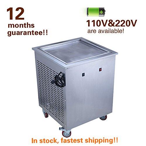 Modelo YK-F1, peso, 50 kg. Potencia 1,2 kW, ,,,,, Nombre del producto: máquina de helado frito Capacidad: 25 kg/h. Tamaño de la sartén: 50 x 40 cm. Dimensiones: 600 x 500 x 700 mm.
