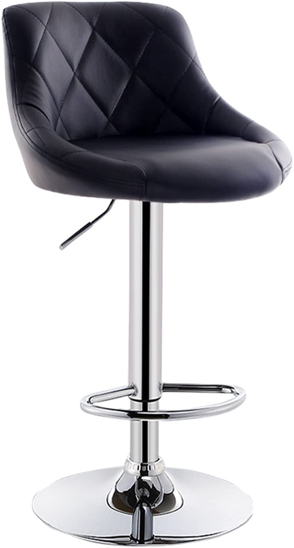 MS Bar Stool, High Bar Stool Continental Backrest Bar Stool Swivel Chair Home Chair Lift Bar Stool Swivel Stool Breakfast Stool 41 (83-103) cm @ (color   E)
