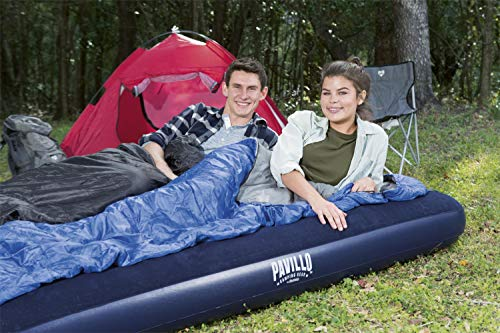 75 x 54 x 8.5 Inch Bestway Comfort Quest Flocked Double Air Bed Blue