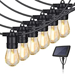 【Solar Powered & Auto On/Off】- Eicaus outdoor string lights are powdered by solar energy. It turns off and auto-charges itself during day, and auto turn on during night. No outdoor outlet or batteries needed, the string lights are can be hang anywher...