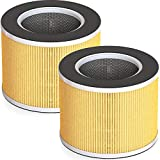 RENPHO True HEPA H13 Replacement Filter for RP-AP089W/RP-AP089B, 4-Stage Filtration System, Pre-Filter, HEPA Filter, Activated Carbon Filter and Net Filter, Especially for Pet Allergies Odor, 2Pack