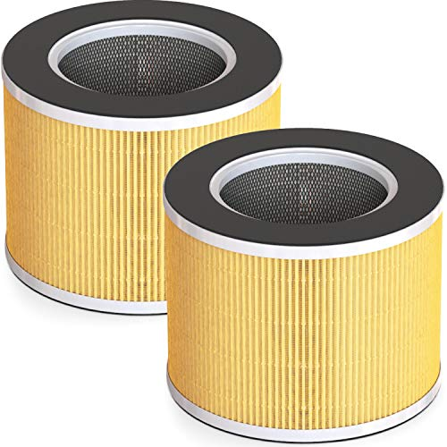 RENPHO True HEPA H13 Replacement Filter for RP-AP088W/RP-AP088B, 4-Stage Filtration System, Pre-Filter, HEPA Filter, Activated Carbon Filter and Net Filter, Especially for Pet Allergies Odor,2Pack