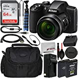 Nikon COOLPIX B600 Digital Camera (Black) with Essential Accessory Bundle – Includes: SanDisk