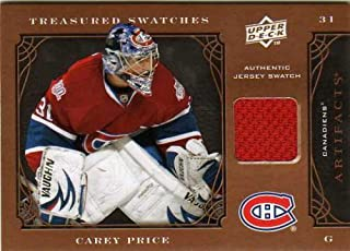 2009-10 Artifacts Treasured Swatches Retail #TSRCP Carey Price Game-Worn Jersey Card - Montreal Canadiens