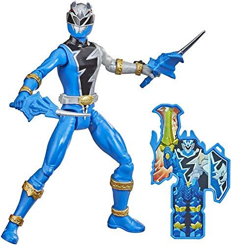 Power Rangers Dino Fury Morpher F0539 Figur mit Gelenken, 15 cm, Blau + Zubehör