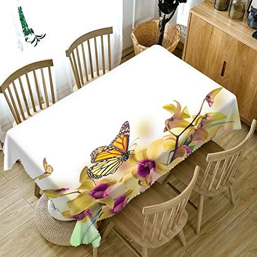XXDD Mantel 3D para el Día de San Valentín con diseño Floral, Mantel Taylormade, decoración para la Familia, Mantel Rectangular A9, 135x180cm