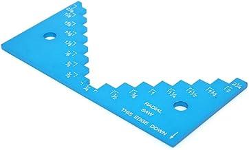 Medidor de profundidad de mesa de enrutador, medidor de profundidad de sierra de mesa, práctico medidor de altura de sierra de mesa, duradera aplicación profesional amplia para herramienta