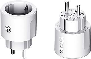 Enchufe Inteligente WiFi, Smart Plug compatible con Google Home Amazon Alexa IFTTT, para iOS Aplicación de Android, Establ...
