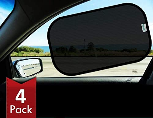 Kinder Fluff Car Window Shade (4px) - The Only Certified Sunshade Proven to Block 99.79% of UVA and 99.95% of UVB - (...