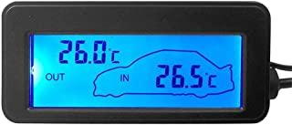 akaddy DC12V Digital Auto Thermometer Mini LCD Hintergrundbeleuchtung Temperaturmesser (blau)