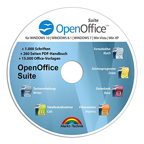 Open Office Suite 2019 Home Student Professional - 100{26eec5cf4f900b0e49ce2c4d2f68c6064d9e62d1ef31f72619338259ad7a8c6c} kompatibel mit Microsoft® Office® Word® und Excel® für Windows 10-8-7-Vista-XP