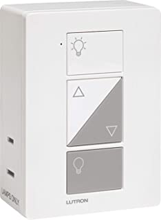 Lutron PD-3PCL-WH Plug-In Lamp Dimmer, Caseta Wireless 300W Incandescent/100W CFL or LED Plug-In Lamp - White