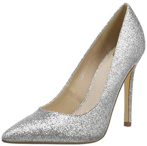Buffalo Damen Amica Pumps, Grau (Silver Glitter 000), 39 EU