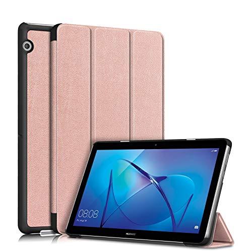 TOPCASE Custodia per Huawei Mediapad T3 10 9.6Pollice Ultra-sottile Cover con Funzione Supporto,Oro rosa