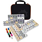 Kalolary Mexican Train Dominoes Game,91 Piece Double 12 Color Dominoes Set