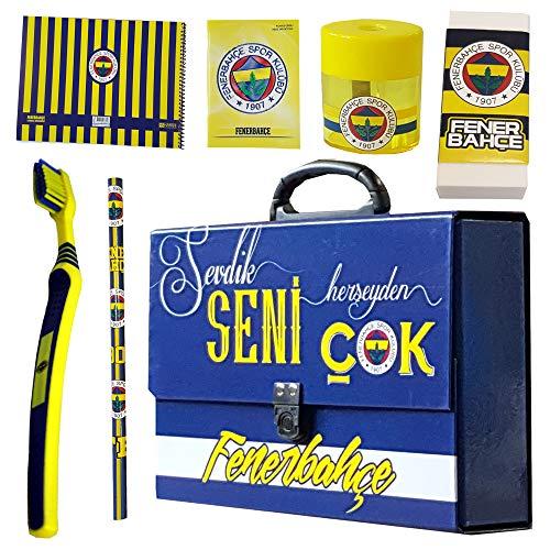 Fenerbahce Istanbul - schoolset - tas - map - boekje - potlood - gum puntenslijper - tandenborstel