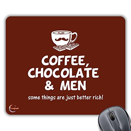 CP356 Koffie Chocolade & Mannen Nieuwigheid Gift Gedrukt PC Laptop Computer Muis Mat Pad