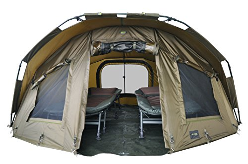 MK-Angelsport Fort Knox 2 Personen Zelt Karpfenzelt Angelzelt komplettes Set inkl. Gummihammer Dome Bivvy