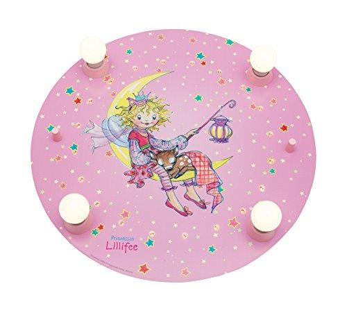 Elobra Kinderzimmerlampe Prinzessin Lillifee Laternennacht, Deckenleuchte, Holz rosa, 130957