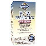 Garden of Life - Probiotiques Brutes - pour Femmes - 90 capsules végétales (Glace)