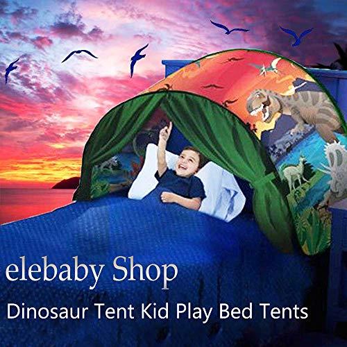 Quanj Kids Dream Bed Tent Children Play Tent Magic Unicorn Space Adventure Dinosaur Indoor Playhouse Boy Girls Birthday Gift