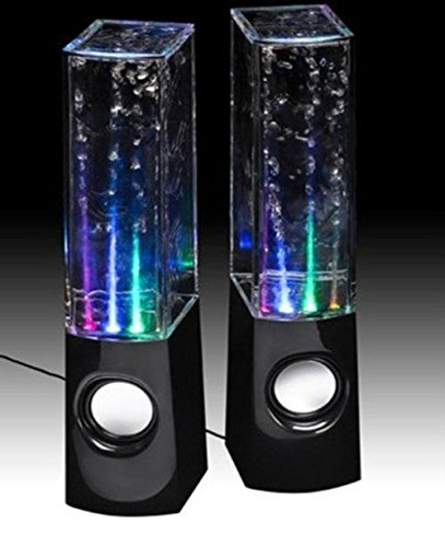 Plug & Play LED Fountain Multi-Color Illuminated Dancing Water Speaker For iPad, iPod, iPhone, Android Smart Phone, Tablet, MP3 Player Computer PC