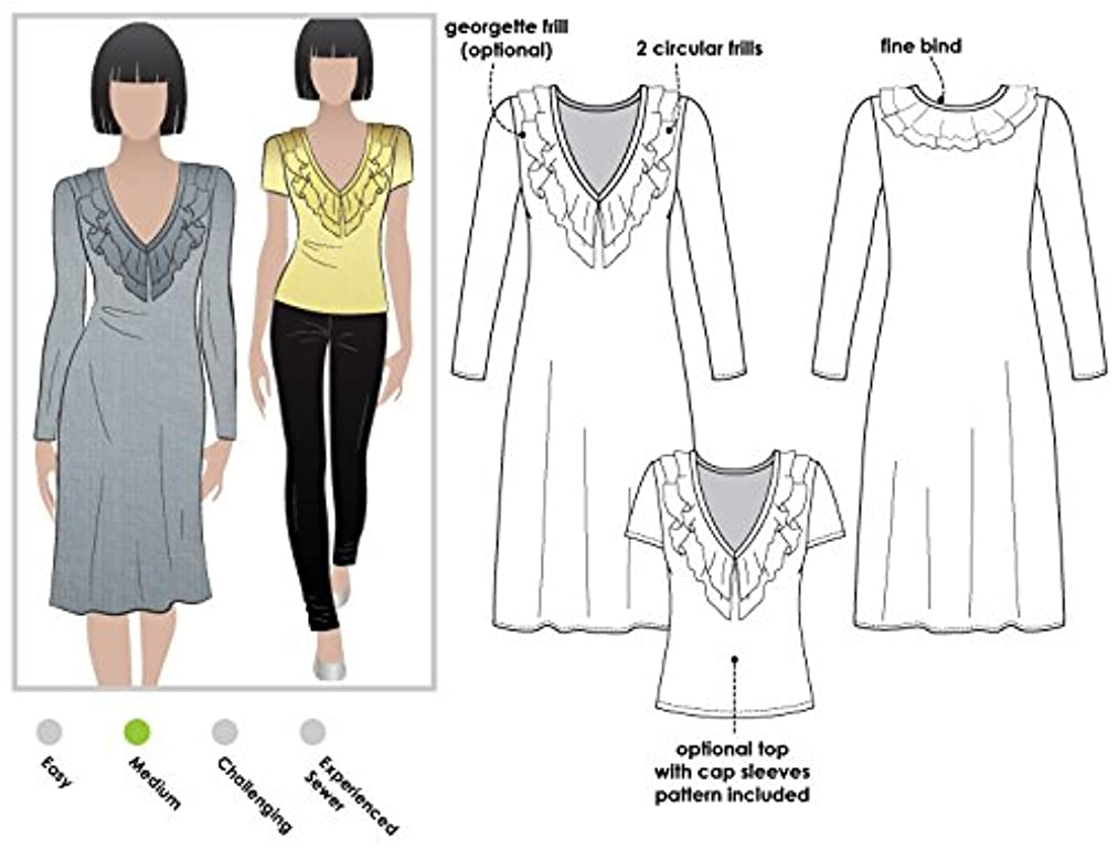 Style Arc Sewing Pattern - Lucy Knit Dress (Sizes 18-30) - Click for Other Sizes Available