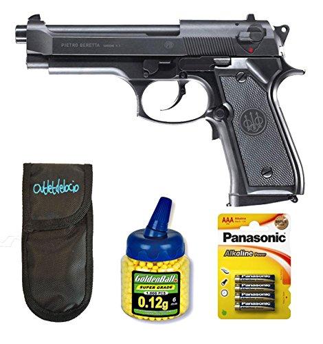 Outletdelocio. Pack Pistola Airsoft electrica Beretta M92FS. Calibre 6mm. + Funda portabalines...