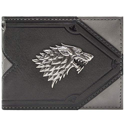 Cartera de House Stark Game of Thrones House Stark Dire Wolf Gris