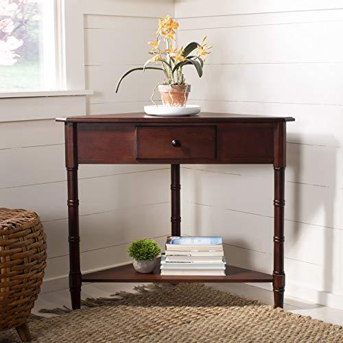 Safavieh American Homes Collection Gomez Dark Cherry Corner Table