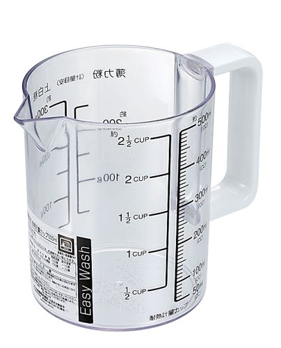 パール金属 Easy Wash 食洗機対応 耐熱計量カップ 500ml 【日本製】 C-8678