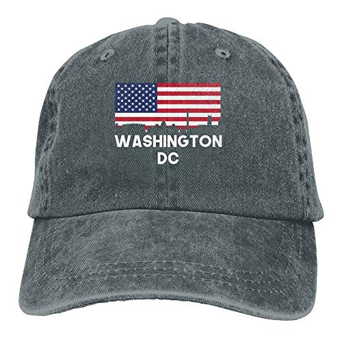 Washington DC Washington honkbalhoed van katoen met Amerikaanse vlag