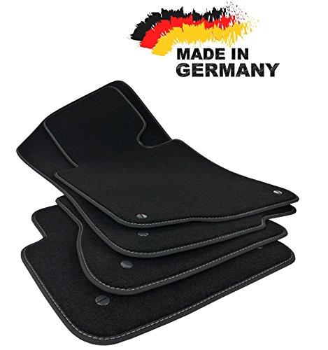 Fußmatten 3er E46 CABRIO Premium Velours SCHWARZ Hochwertige Anthrazit Umrandung Original Qualität Automatten
