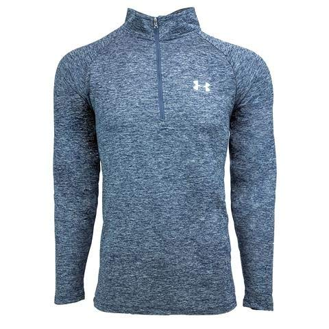 Under Armour Men's UA Tech Space Dye 1/2 Zip Pullover, Navy, M