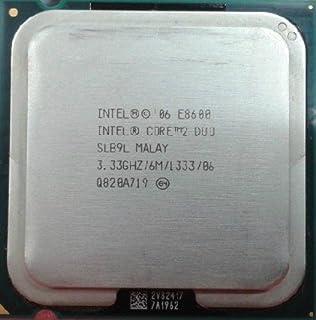 انتل كور 2 ديو E8600 SLB9L معالج 3.33 جيجاهيرتز 1333 وحدة المعالجة المركزية 75 LGA775