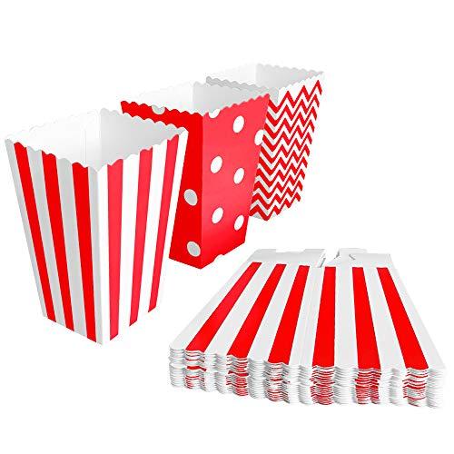 BangShou 60pcs Cajas de Palomitas Cartón Caramelo Contenedor Cine Pequeñas Cajas de...