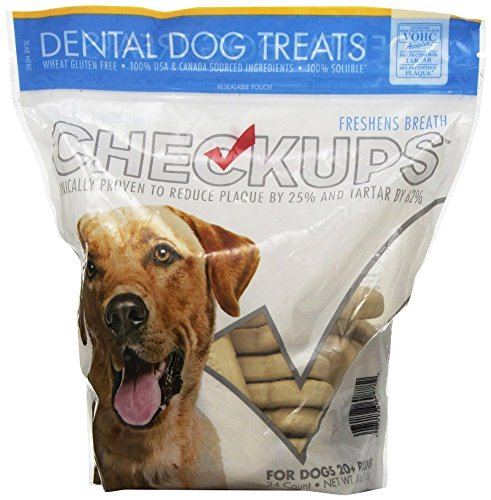 Checkups- Dental Dog Treats, 24ct 48 oz. for dogs 20+ pounds (2 Bags, 48 Count Total)