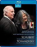 Schubert, F.: Symphony No. 8, 'Unfinished' / Tchaikovsky, P.I.: Piano Concerto No. 1 (Argerich, D. Barenboim) [Blu-ray]