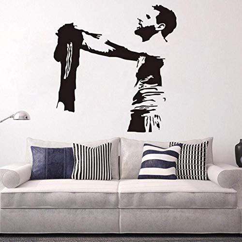 Messi Fußballspieler Kunst Wandtattoo Barcelona Fc Fußballverein Fußball Vinyl Aufkleber Wandbild Schlafzimmer Dekor Wohnkultur 57 * 57 Cm