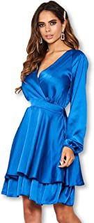 AX Paris Women's Cobalt Satin Dress