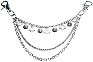 Women's Swag Hip Chain, Repeated B&S/Skull Logos, HDWSW10300