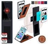 Hülle für Motorola DROID Mini Tasche Cover Hülle Bumper | Braun Leder | Testsieger