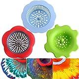 Leinuosen 3 Stück Acryl Gießen Siebe Kunststoff Silikon Sieb Blume Ablassen Korb Acryl Malen Gießen Vorräte