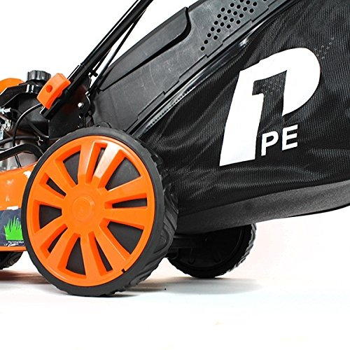 Hyundai Engine P1PE P5100SPE 173cc Petrol Lawnmowers Self Propelled Electric Start 20 Inch 51 Centimetre Cutting Width, Steel Deck Lawn Mower, Included Engine Oil, Orange